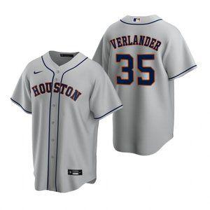 Houston Astros Justin Verlander Jersey Gray